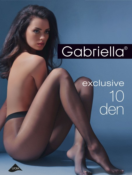 Gabriella - Elegant sheer tights Exclusive, 10 DEN
