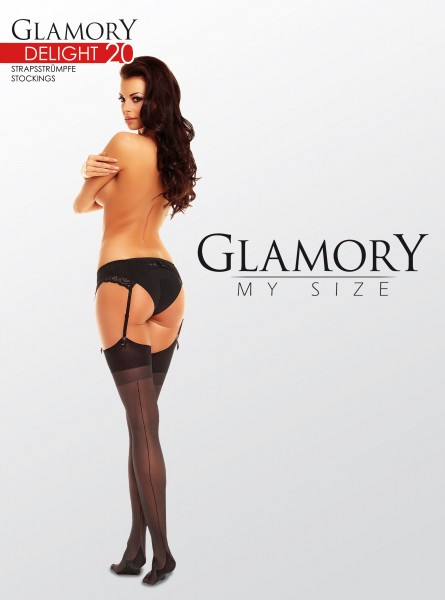Glamory Delight 20 - Classic plus size stockings with back seam