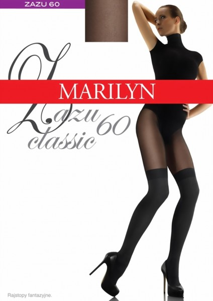 Marilyn - Trendy over-knee tights Zazu Classic, 60 DEN