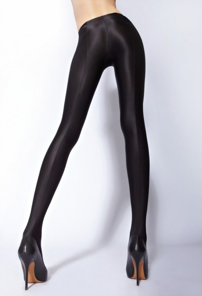 Cecilia de Rafael - Opaque wet look tights Uppsala 150 denier,