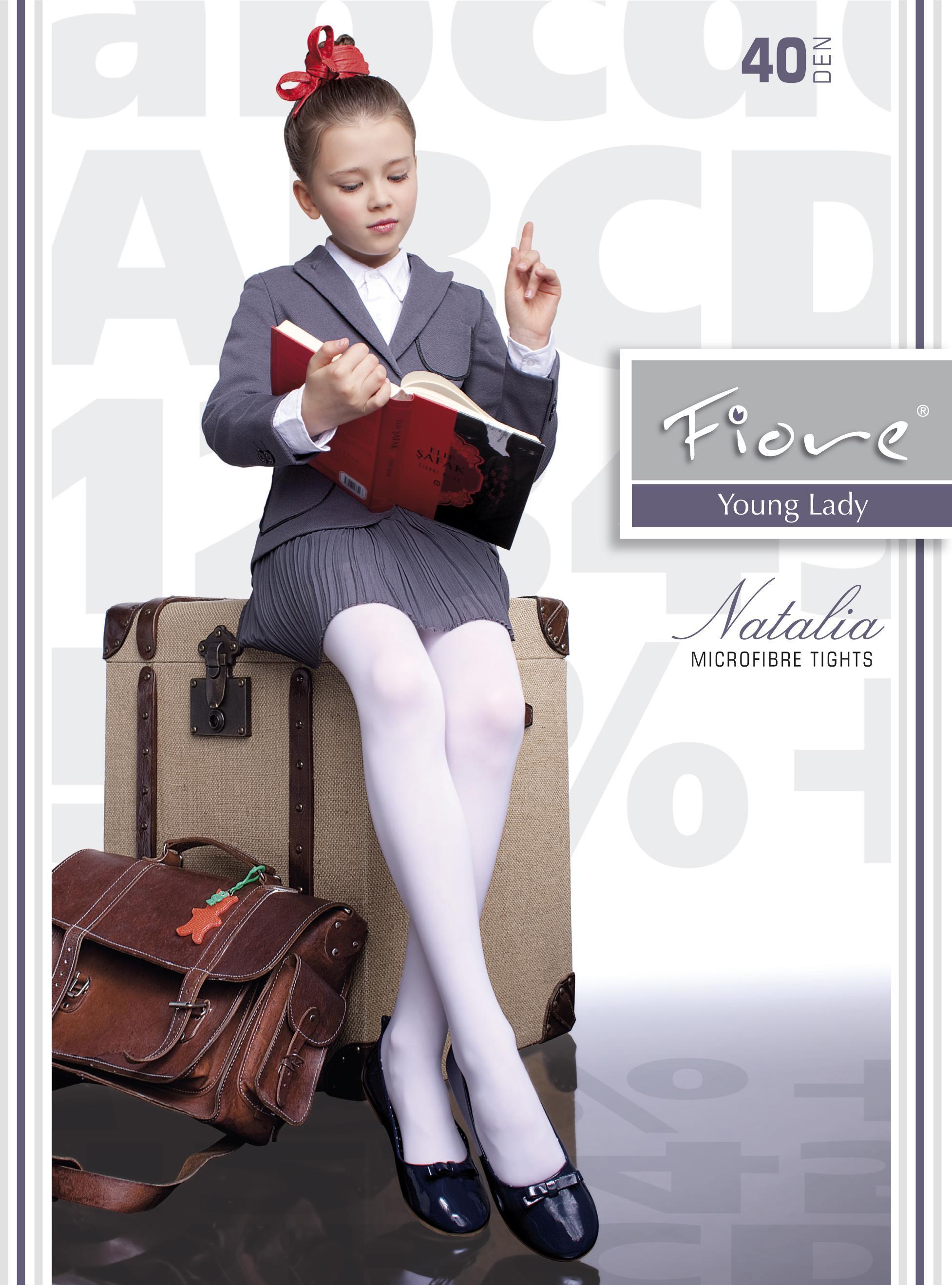 6ee5e0b98d9ad Fiore - Classic microfiber childrens tights Natalia 40 denier ✅