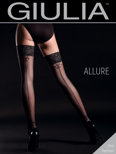 GIULIA ALLURE - Mock back seam hold ups