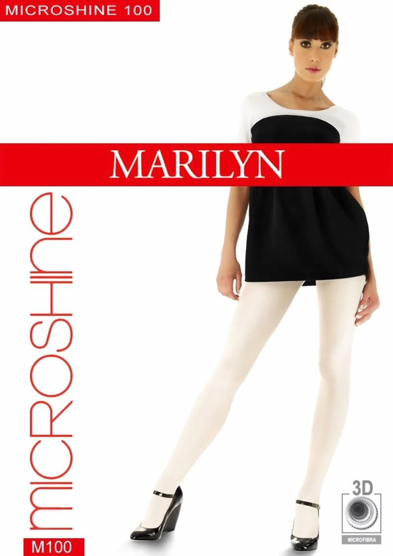 222750b6dd48d Marilyn - Opaque glossy tights Microshine 100 den ✅