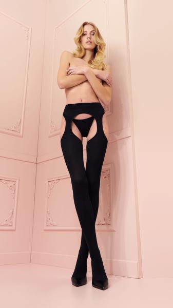 Trasparenze - Sensuous opaque suspender tights Cortina, 100 denier