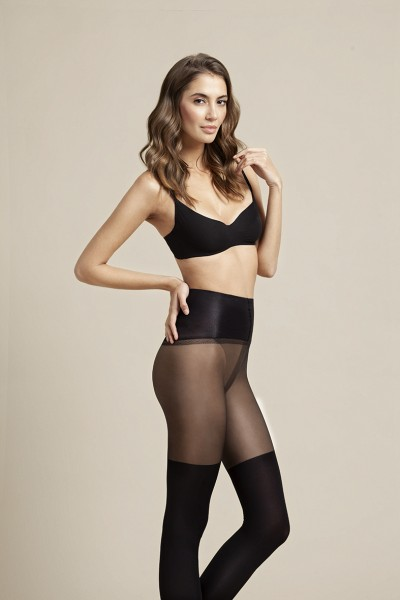 Fiore Mock over the knee tights with tummy control top