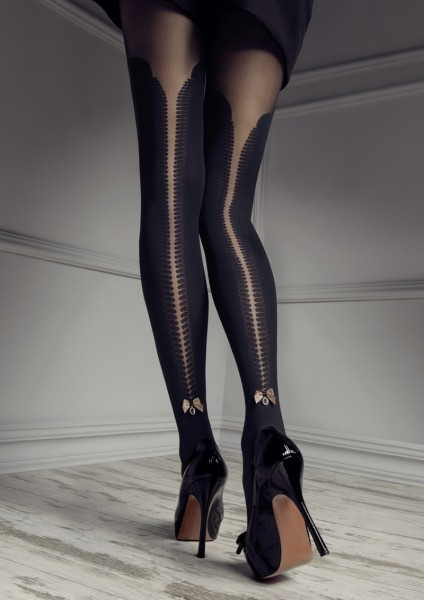 Patrizia Gucci for Marilyn mock over the knee tights with lace top