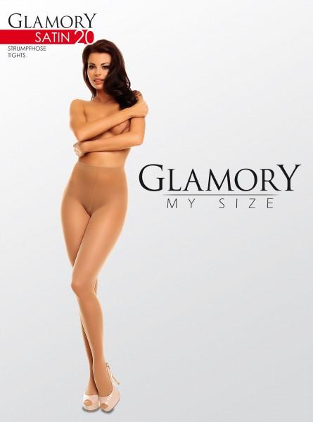 Glamory - Glossy plus size tights Satin 20 denier