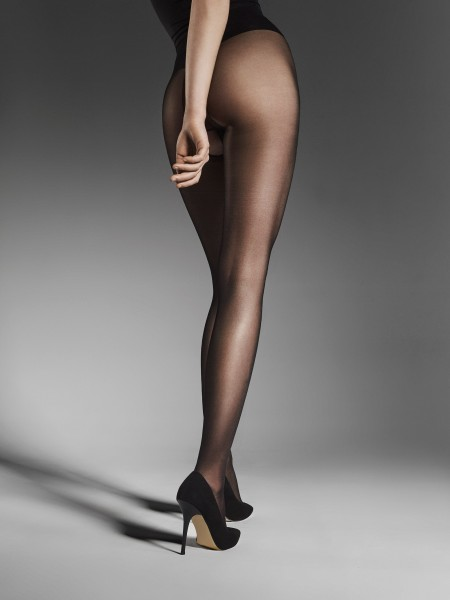Fiore Ouvert 20 - Sheer gloss tights with open crotch