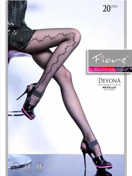 Fiore - Elegant subtle patterned tights Devona 20 DEN