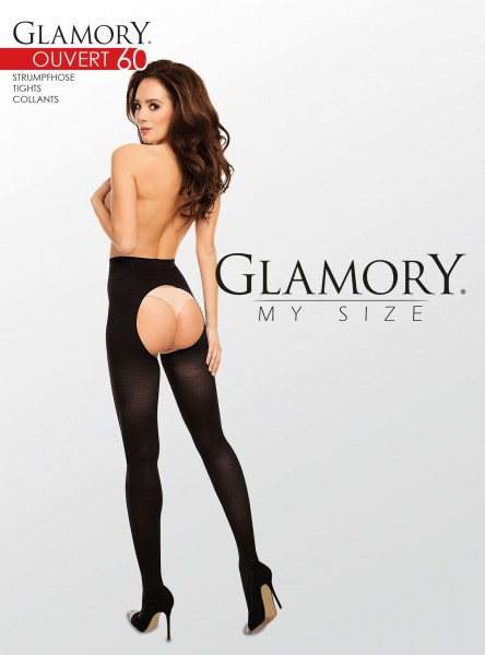 Glamory Ouvert 60 - Opaque plus size tights with open crotch