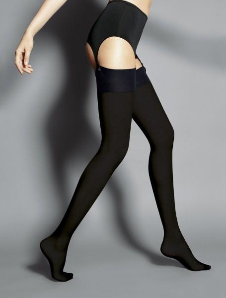 Veneziana Leila - Opaque mat stockings with flat top