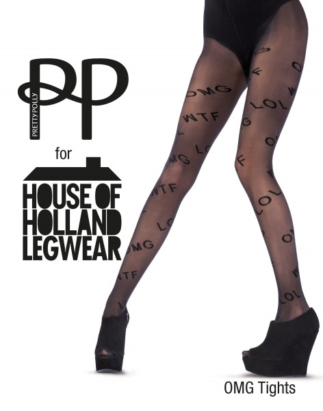 House of Holland for Pretty Polly - OMG Motif Word Tights