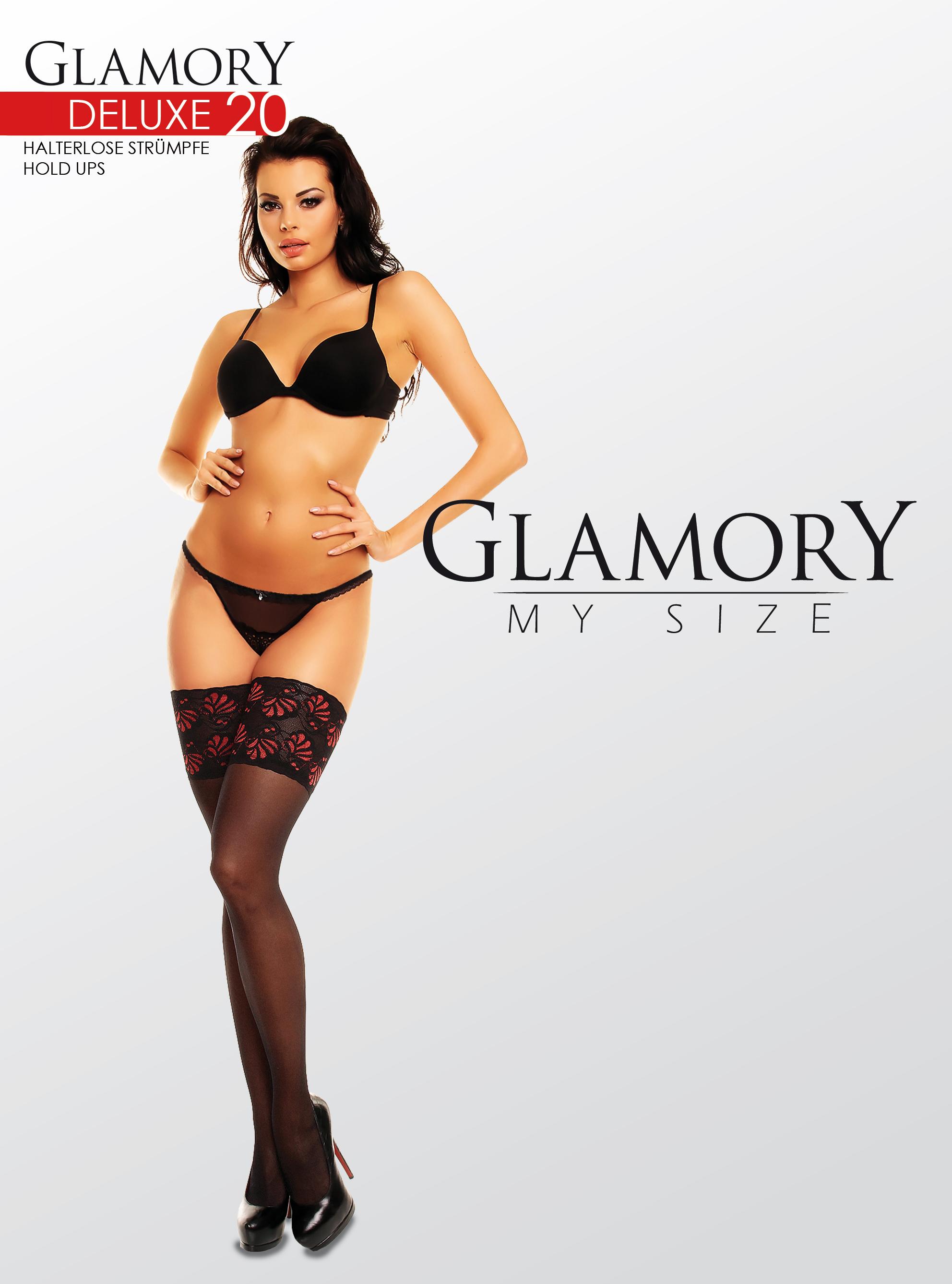 b5ac5a55c Glamory - Elegant plus size hold ups Deluxe 20 denier   9989