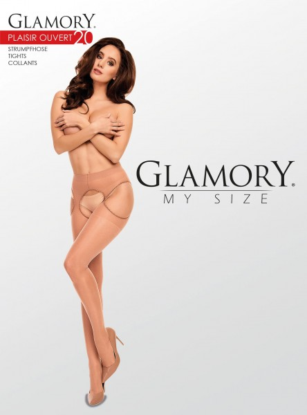 Glamory Plaisir Ouvert - 20 denier plus size suspender tights