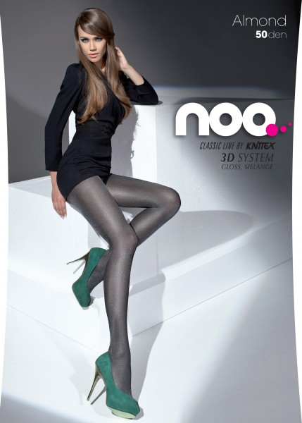 Knittex - 50 denier opaque gloss tights Almond