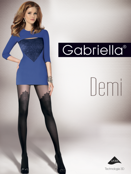 Gabriella - Stylish mock over-the-knee tights Demi, 40 den